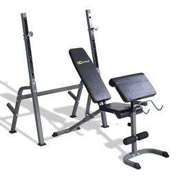 Adjustable Weight Lifting Bench+Rack Set