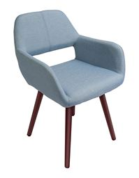 Innovex Florence Accent Chair, Soft Blue