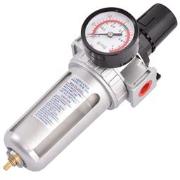 Air Pressure Regulator Filter Water Separator with Pressure Gauge