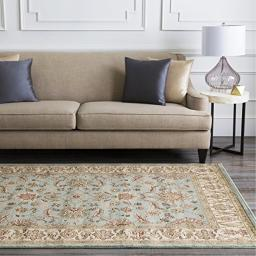 "Mozart Sage and Khaki Traditional Area Rug 7'9"" x 11'2"""