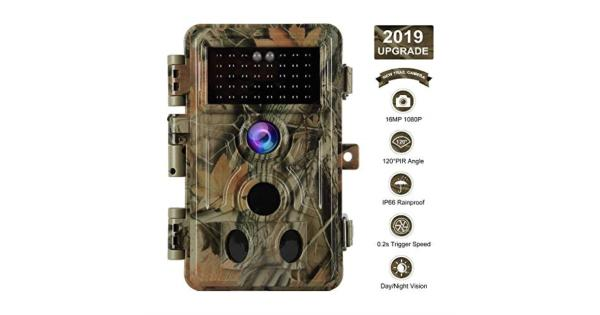 [2020 Upgrade] Trail Camera 16MP 1080P Game Camera with No Glow 65ft Night Vision 02s Trigger Time Motion Activated 24 LCD Easy Operate Keypad... thumbnail