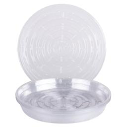 Curtis Wagner VL-10-10PK 715007143314 Round Clear Vinyl Plant Saucer, Pack of 10