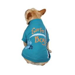 Casual Canine Polyester/Cotton Surf's Up Dog Tee, Suffer Boy, X-Small, 10-Inch