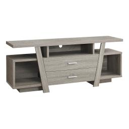 "Offex OFX-504271-MO Entertainment Room TV Stand, 60""L/Dark Taupe with 2 Storage Drawer"