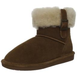 BEARPAW Women's Abby Snow Boot,Hickory,9 M US