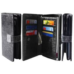 [Shine Grey] G3 [Dual Wallet] [6 Card Slot,3 Bill Slot] [Wristlet] PU Leather TPU Bumper Clutch Case [Drop Protection] For LG G3