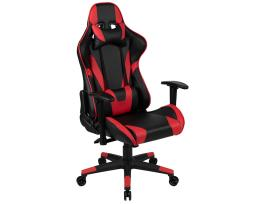 Offex X20 Gaming Chair Racing Office Ergonomic Computer PC Adjustable Swivel Chair with Fully Reclining Back in Red LeatherSoft