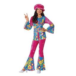 Costume Culture Women's Flower Power Girl's Costume, Pink, Large