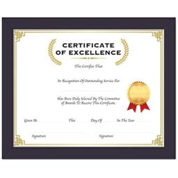 "BAZIC 11"" X 14"" Multipurpose Certificate Frame with Glass Cover, Case of 24 (1404-24)"