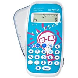 Genie BT11 Calculus Trainer Educational Game with 300,000 Exercises with Pocket Calculator with Protective Cover by Genie