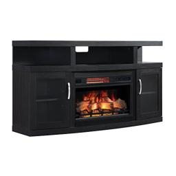 "ClassicFlame 26MM5508-NB04 Cantilever TV Stand for TVs up to 65"", Embossing Oak (Electric Fireplace Insert sold separately)"