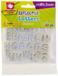 Creative Hands Reflective Letters Stickers