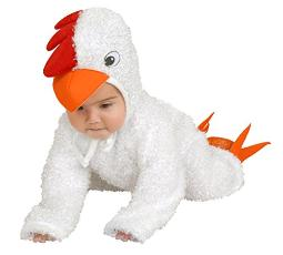 Charades Little Chick Baby/Toddler Costume White Newborn