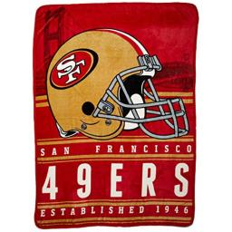 """Officially Licensed NFL San Francisco 49ers Stacked Silk Touch Throw Blanket, 60"""" x 80"""""""