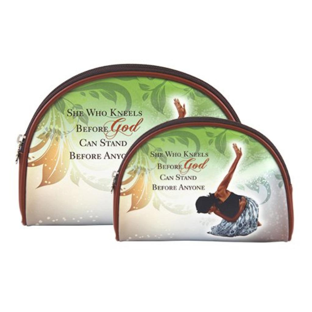 African American Expressions - She Who Kneels Cosmetic Bag (set of two) COS-05
