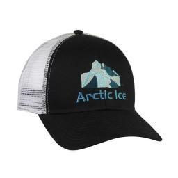 Arctic Ice 1000 Black And White Trucker Hats Adjustable Snap Back