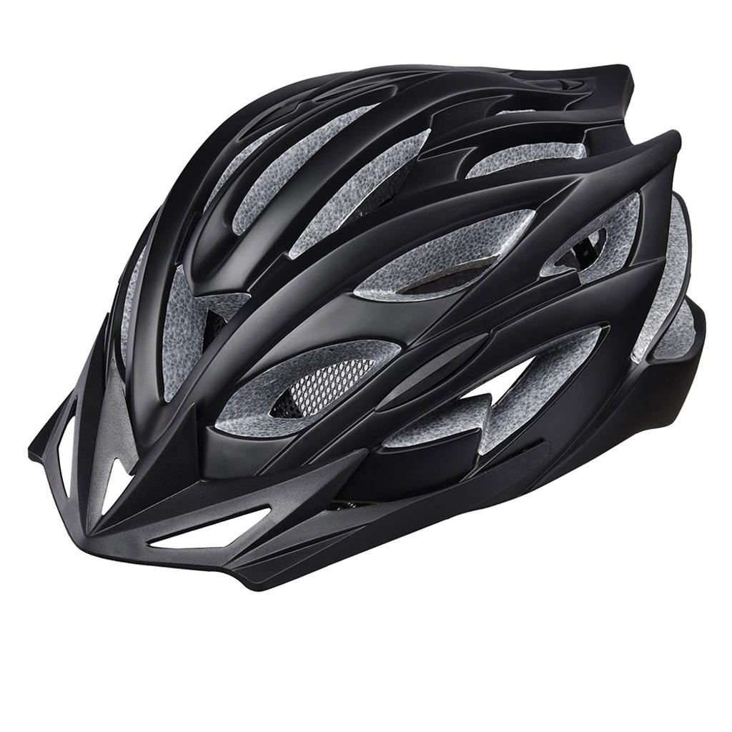 In-mold Cycling Helmet CPSC with LED Light 25 Vents Visor MTB Road Adult