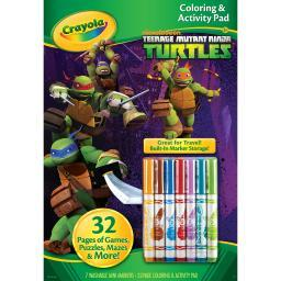 Crayola Coloring & Activity Pad W/Markers-Teenage Mutant Ninja Turtles 04-0208