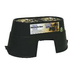 Our Pets 2020010409 Black Our Pets Healthy Pet Diner Elevated Dog Feeder Large Black 27 X 14.5 X 12 2020010409