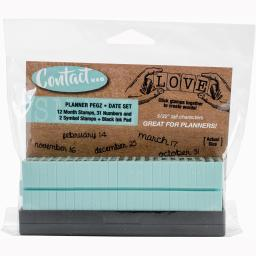 Contact USA Clickable A Gentle Touch Font Stamps & Ink Pad Date Set