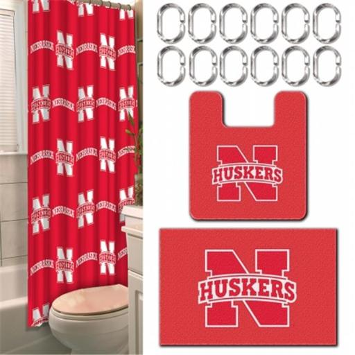 Northwest 1COL-89300-0006-WMT NCAA Nebraska Bath Set, 17.5 x 28 in. - 15 Piece