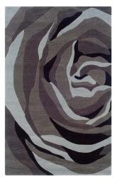 "Linon Rugs Trio With A Twist Grey/Charcoal Rug 1'10"" x 2'10"" [Kitchen]"
