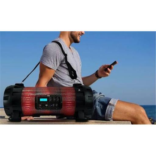 Pyle PBMSPG260L Bluetooth Plus NFC Boom Box Stereo Speaker System with Multi-Color App Controlled LED Party Lights