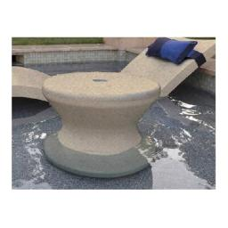 Ledge Lounger LLST-14T-SS 0-10 in. Water Side Table, Sand Stone