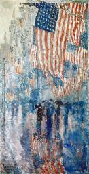 Hassam: Avenue In The Rain. /N'The Avenue In The Rain.' Oil On Canvas By Childe Hassam, 1917. Poster Print by Granger Collection