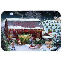 Carolines Treasures PTW2002LCB Christmas Tree Farm Glass Cutting Board, Large PTW2002LCB
