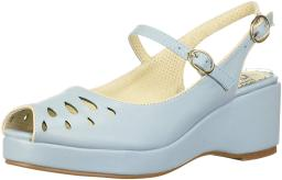 Bettie Page Women's Bp242-Faye Wedge Sandal