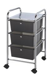 Alvin sc3sm storage cart 3-drawer (deep) smoke