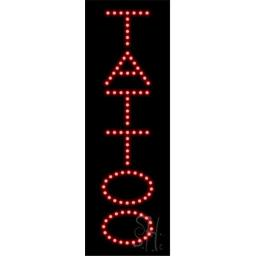 Sign Store L100-1464-outdoor Tattoo Outdoor LED Sign, 7 x 21 x 3.5 In.
