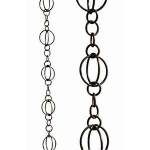 Patina Products R256H Antique Copper Life Circles Rain Chain - Half Length