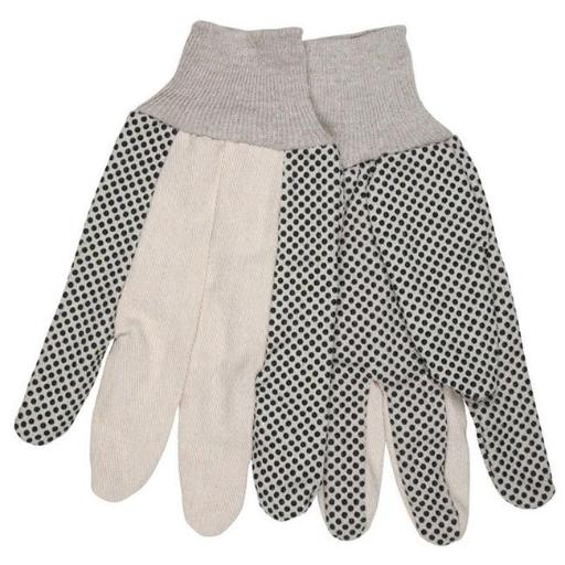 Safety Works 7409048 Universal Large Cotton Dotted Gloves, White