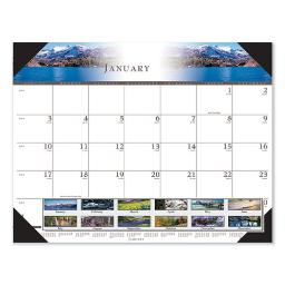 Recycled Full-Color Photo Monthly Desk Pad Calendar 22 X 17 2021   Total Quantity: 1