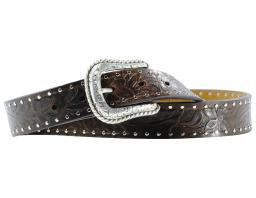 Ariat Western Belt Womens Leather Work Embossed Bark A10004673