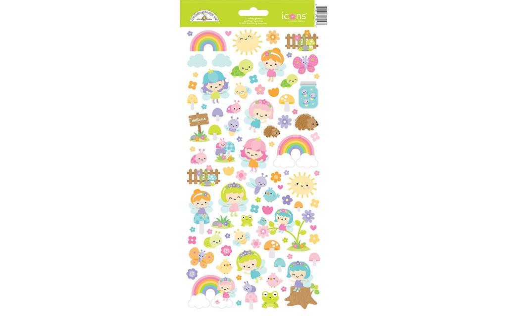 7219 doodlebug fairy garden sticker icons