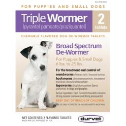 Durvet-pet Triple Wormer from puppy&sm Dogs 2 Count - 011-17603