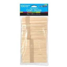 Natural Craft Sticks - 100 Count