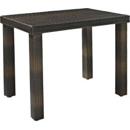 Crosley CO7203-BR Palm Harbor Outdoor Wicker High Dining Table - Brown