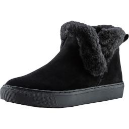 Cougar Womens Duffy Synthetic Faux Fur Trim Ankle Boots