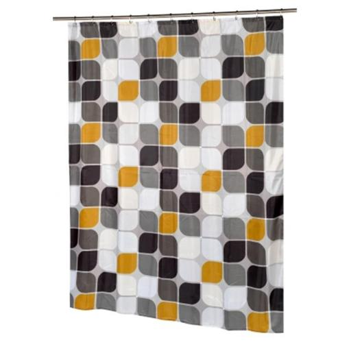 Carnation Home Fashions SC-FAB-ST-MT 54 x 78 in. Metro Stall Size Fabric Shower Curtain, Multi Color