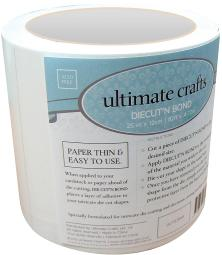 """Ultimate Crafts Diecut'N Bond Double-Sided Tape 4.72""""X82'-Clear"""