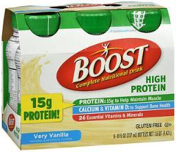 Boost High Protein Complete Nutritional Drink Very Vanilla - 24 - 8 Oz
