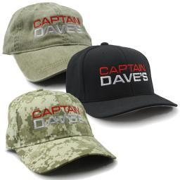 Low Profile Baseball Cap w/Embroidered Captain Dave's Logo