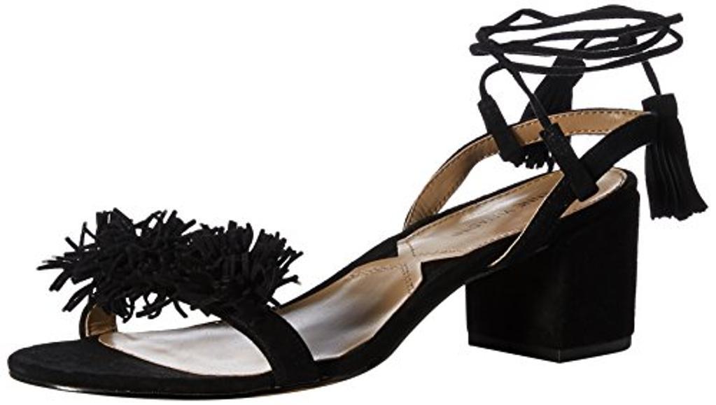 ADRIENNE VITTADINI Footwear Women's Alen Fisherman Sandal, Black, 6 M US