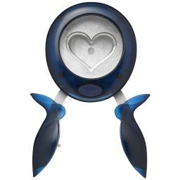 Fiskars 090332 Round-N Heart Shape Squeeze Punch, Extra Large, 2 In.