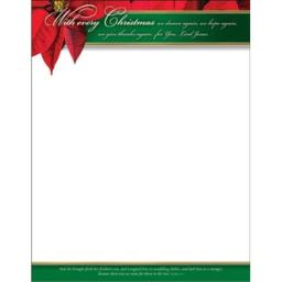 Warner Press 16998X With Every Christmas Letterhead, Pack of 100