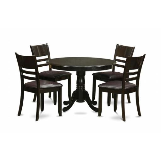 East West Furniture HLLY5-CAP-LC 5 Piece Small Kitchen Table and Chairs Set-Dining Table and 4 Dinette Chairs